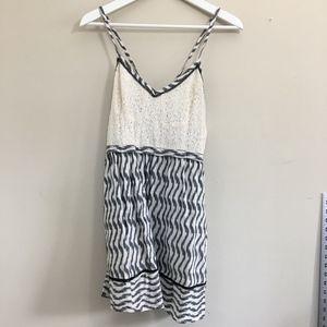 Urban Outfitters Chevron Metallic Lace Dress
